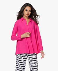 JapanTKY Milly Travel Jersey A-line Blouse - Pink