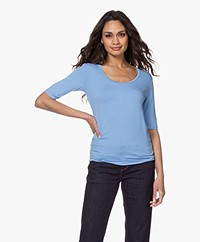 Majestic Filatures Soft Touch Ronde Hals T-shirt - Vista Blue