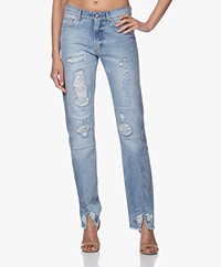 Zadig & Voltaire Erini Destroyed Straight-leg Jeans - Blue