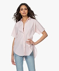 Closed Senna Poplin Short Sleeve Blouse - Soft Pink