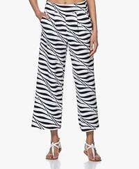 JapanTKY Kona Travel Jersey Zebraprint Culotte - Zwart/Wit