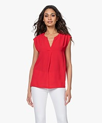 by-bar Star Viscose Crêpe Top - Salsa
