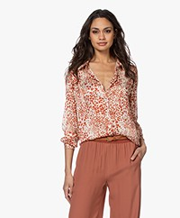 by-bar Cato Print Blouse - Pepper