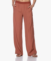 by-bar Vive Viscose Crepe Pants - Orange