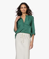 by-bar Lois Cotton Blouse - Agave