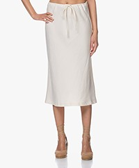 Josephine & Co Bela Bias-cut Tencel Blend Midi Skirt - Ecru
