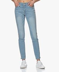 Repeat Slim-fit Jeans met Lurex Details - Blauw