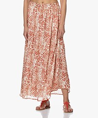 by-bar Pleun Print Maxi Rok - Pepper