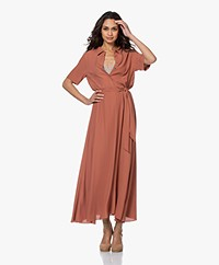 by-bar Liz Crepe Midi Shirt Dress - Orange