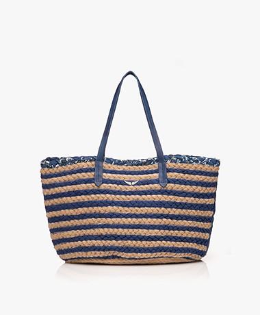 Zadig & Voltaire Sunshine Jute Shopper - Marine