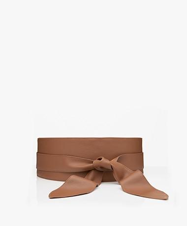 LaSalle Leather Self-tie Waist Belt - Tan