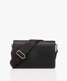 Zadig & Voltaire Lolita Grained Shoulder Bag/Cross-body Bag - Black