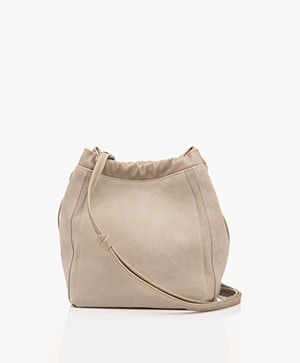 Filippa K Lena Soft Bucket Bag with Draw String - Light Taupe