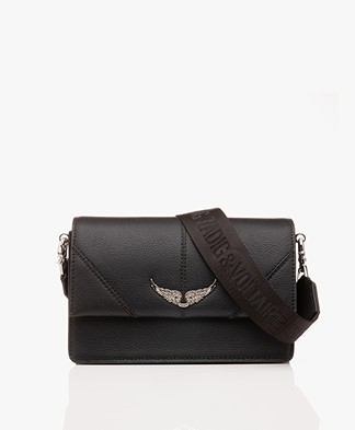 Zadig & Voltaire Lolita Grained Schoudertas/Cross-body Tas - Zwart