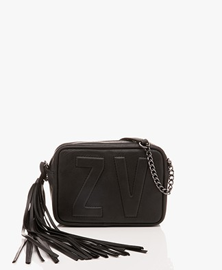 Zadig & Voltaire XS Boxy Initial Shoulder Bag - Black
