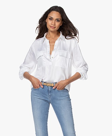 Plein Publique La Commandante Viscose Blouse - White