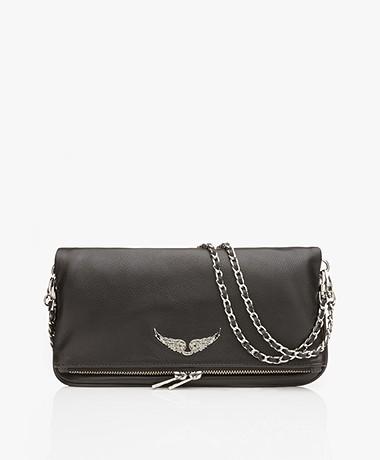 Zadig & Voltaire Rock Leather Shoulder Bag/Clutch - Black