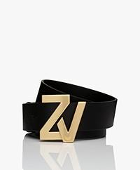 Zadig & Voltaire ZV Initiale Riem - Zwart