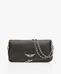 Zadig & Voltaire Rock Leather Shoulder Bag/Clutch - Black