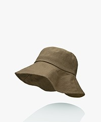 Monk & Anna Summer Linen Bucket Hat - Olive