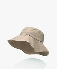 Monk & Anna Summer Linen Bucket Hat - Sea Shell