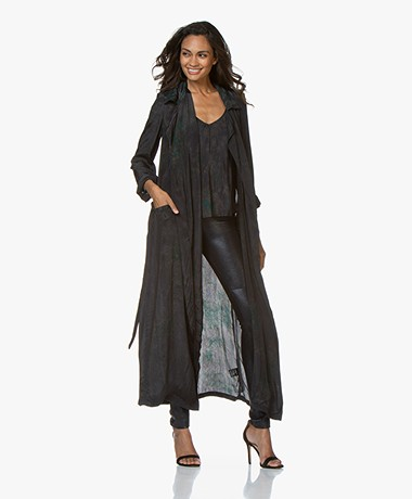 Mes Demoiselles Moldavite Viscose Print Trench - Dream