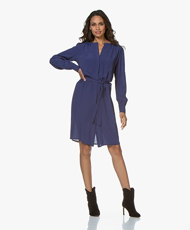 by-bar June Viscose Crepe Dress - Blue Berry