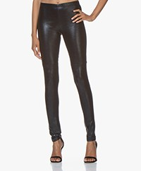 Mes Demoiselles Esther Leather Leggings - Bluenight
