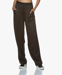 Resort Finest Fico Loose-fit Satin Pants - Black