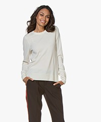 Repeat Luxury Round Neck Cashmere Pullover - Cream