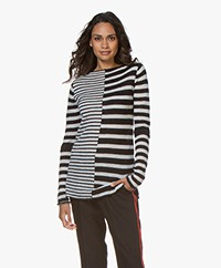 By Malene Birger Joella Alpaca Blend Striped Sweater - Black/Off-white