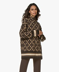 By Malene Birger Catherine Oversized Jacquard Sweater - Brown/Beige