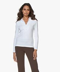 Belluna Laviani Jersey Longsleeve with Collar - White