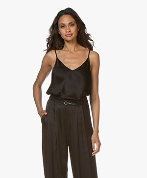 Resort Finest Satin Camisole Top - Black