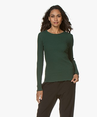 BY-BAR Rib Basic Longsleeve - Evergreen
