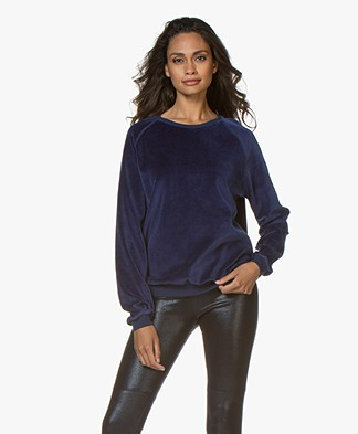 by-bar Teddy Velvet Sweater - Blue Berry