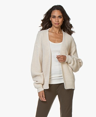 by-bar Short Open Ribbed Cardigan - Off-white