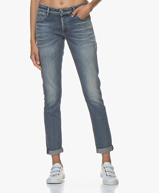 Denham Monroe Paris Girlfriend Fit Jeans - Blue