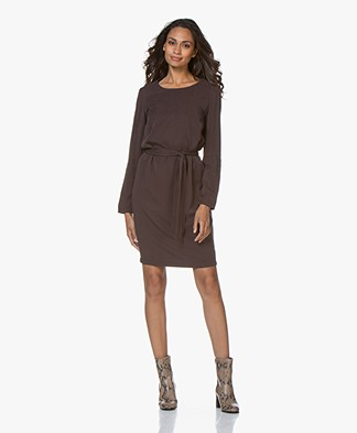 Josephine & Co Galina Tencel Twill Dress - Dark Brown