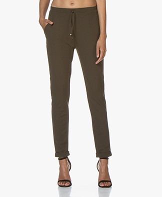 Josephine & Co Goran Crepe Jersey Pants - Dark Olive