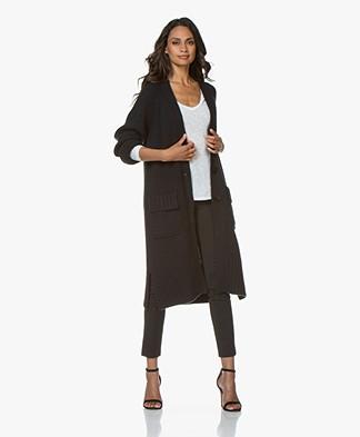Repeat Luxury Lang Cashmeremix Vest - Zwart