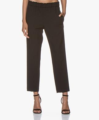 Pomandère Tapered Wool Blend Pantalon - Black