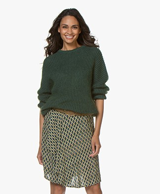 BY-BAR Milou Mohair Blend Sweater - Green