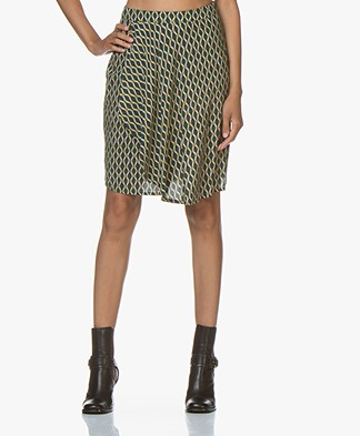 indi & cold Batik Printed Skirt with Wrap Front - Jade