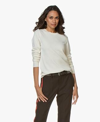 Repeat Luxury Round Neck Cashmere Pullover - Cream