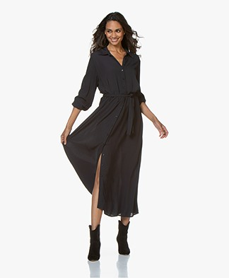 by-bar Yara Twill Maxi Shirt Dress - Midnight
