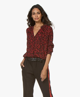 Zadig & Voltaire Tink Viscose Leopard Printed Blouse - Passion