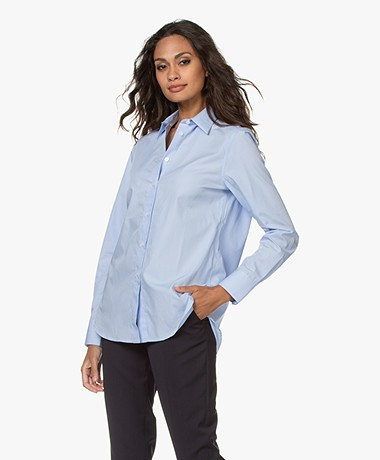 Filippa K Jane Organic Cotton Poplin Shirt - Light BLue