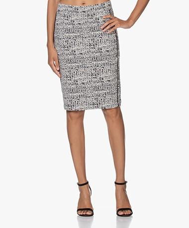 Kyra & Ko Minja Textured Jersey Jacquard Skirt  - Iron