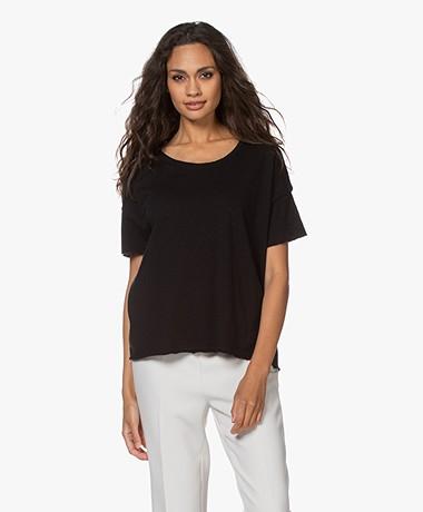 American Vintage Sonoma Boxy T-shirt - Zwart